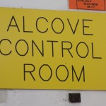 Alcove Control Room Sign